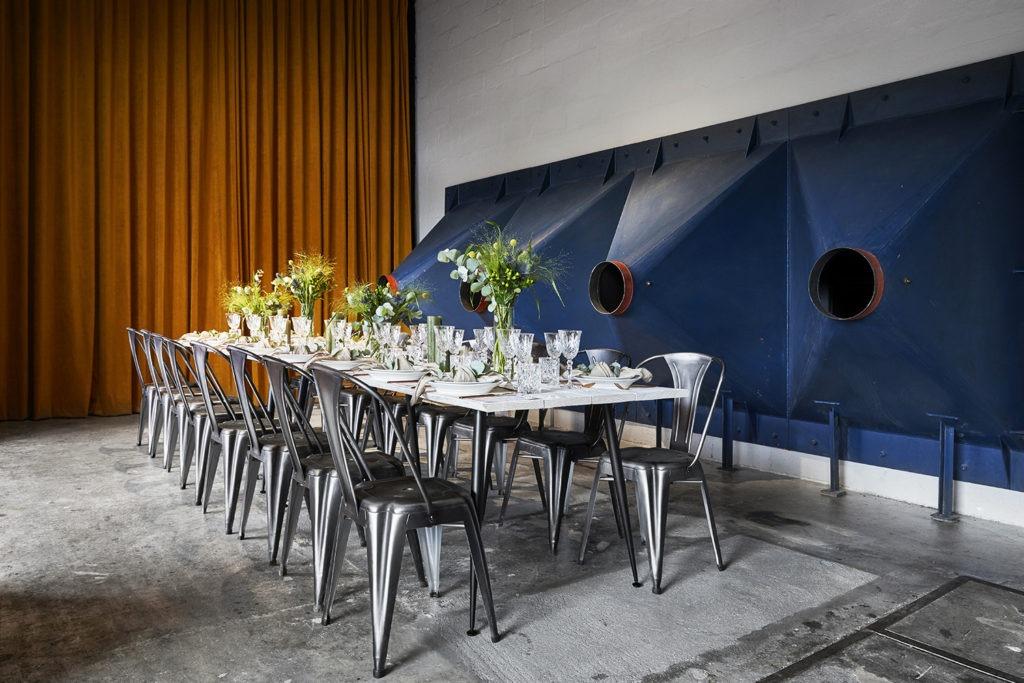 Firmaevent hos The Plant med Lyse Plankeborde fra Norbord