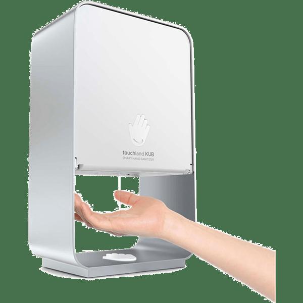 Norbord - Lej en Touchland KUB dispenser til hånddesinfektion inkl. gulvstander